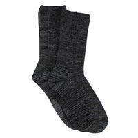 Women's NON TERRY CREW steel grey sock 3 pack