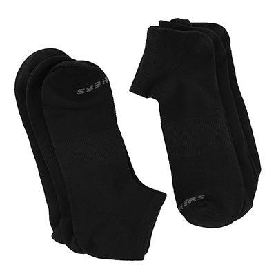 SkechersMen's LOW CUT NON TERRY black socks 6 pack