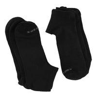Men's LOW CUT NON TERRY black socks 6 pack