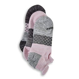 Lds Half Terry Low Cut gry/pnk socks 3pk