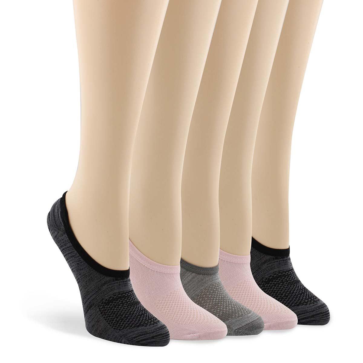 Socquette NOSHOW NONTERRY rose/gris femmes 5paires
