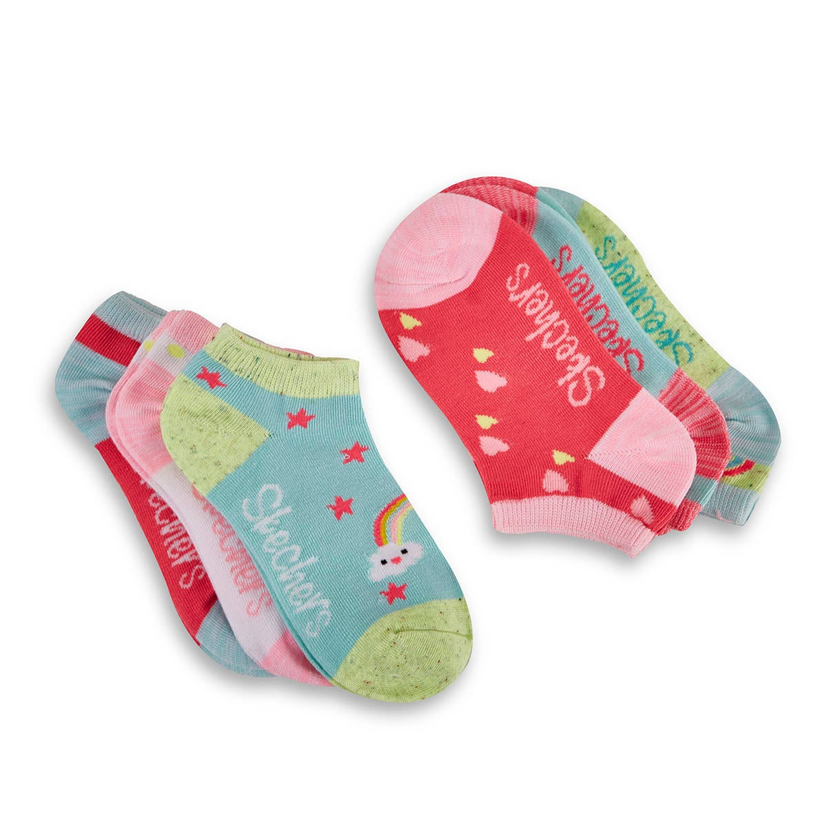 Girls' LOW CUT NON TERRY multi socks - 6pk