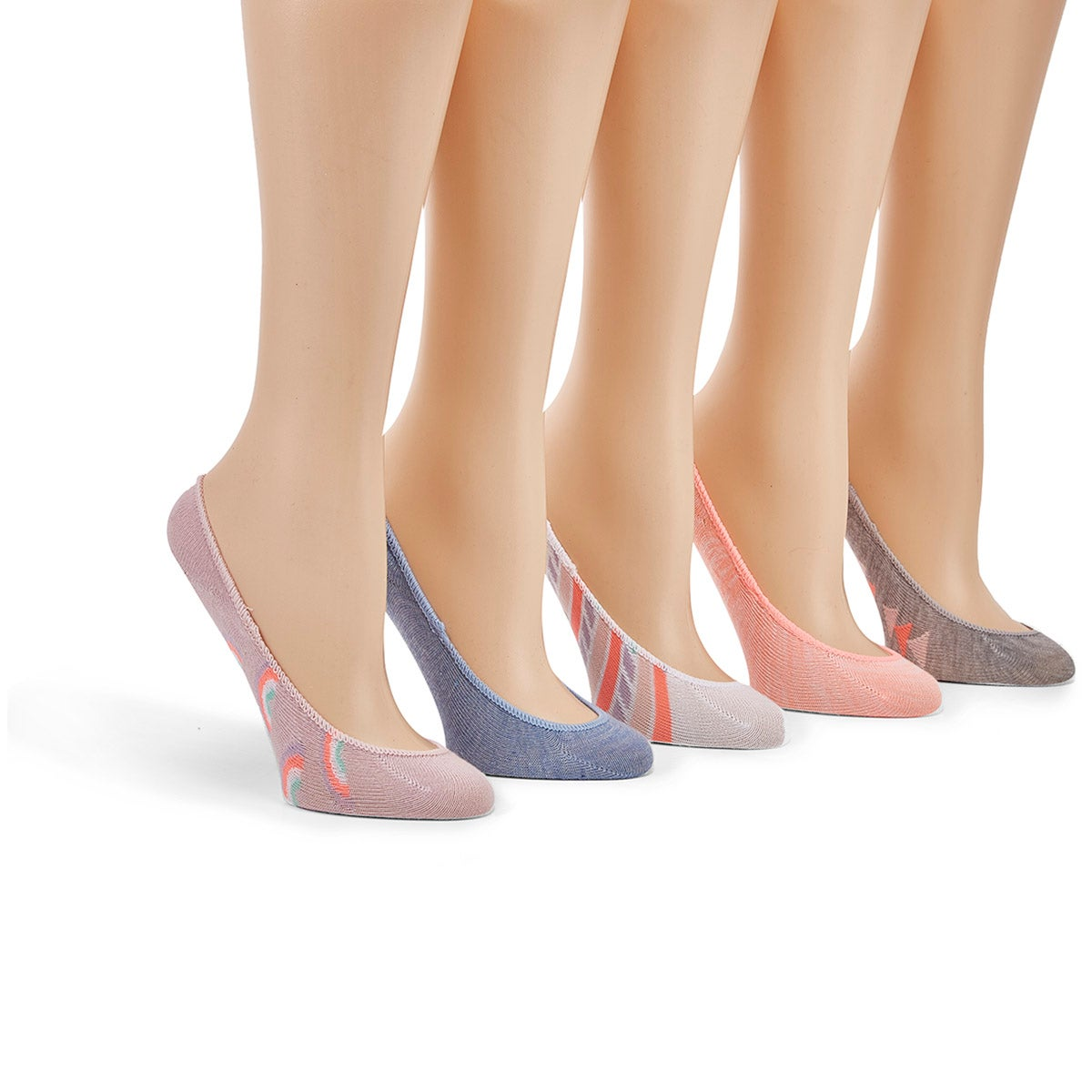Socquettes invisibles SUPERLOW, multi, 5p, filles