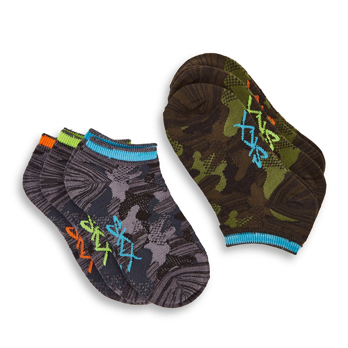 Boys' NON TERRY LOW CUT multi socks - 6pk