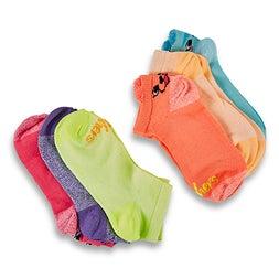 Grls Low Cut NoTerry multi sock 6pk