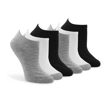Women's NO SHOW TC Blend mulit ankle sock 6 pack