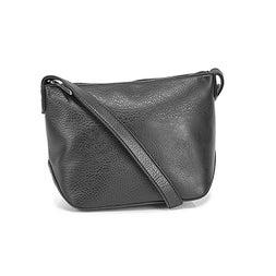 Lds Sam Lg black vegan crossbody bag