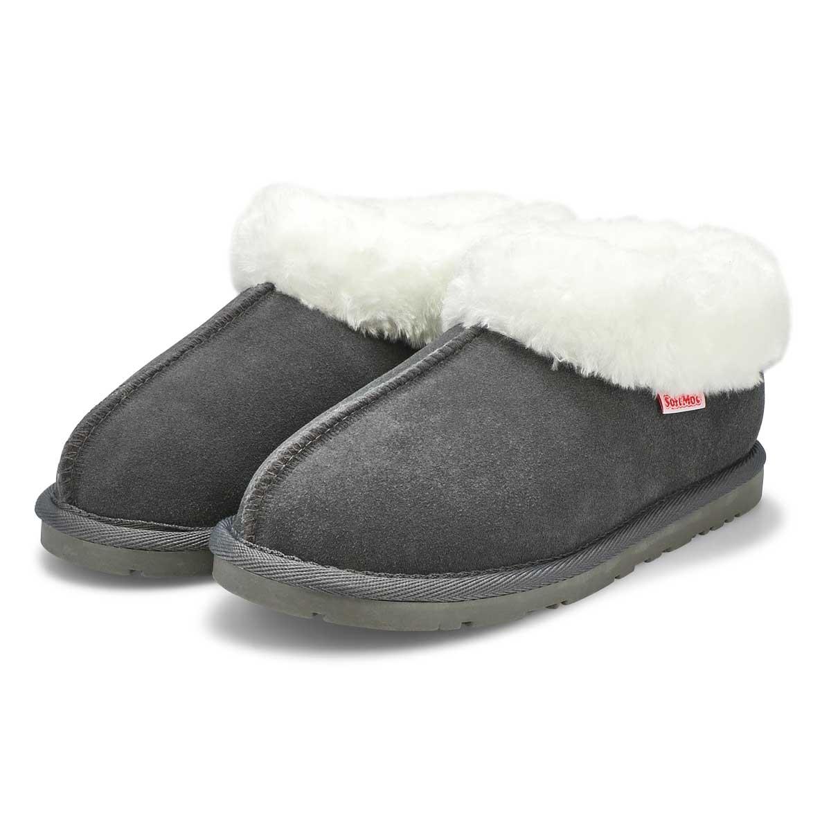 Pantoufles en suède SAVANNA, gris, femmes