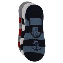 Mns Rugby navy multi canoe liner -3pk