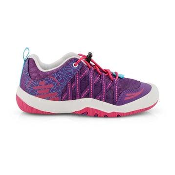 Girls' SCOUT purple bungee sneakers