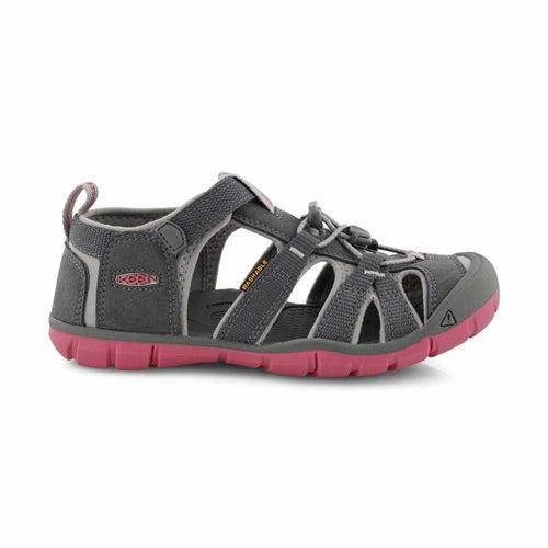 Girls Seacamp II steel gry sport sandal