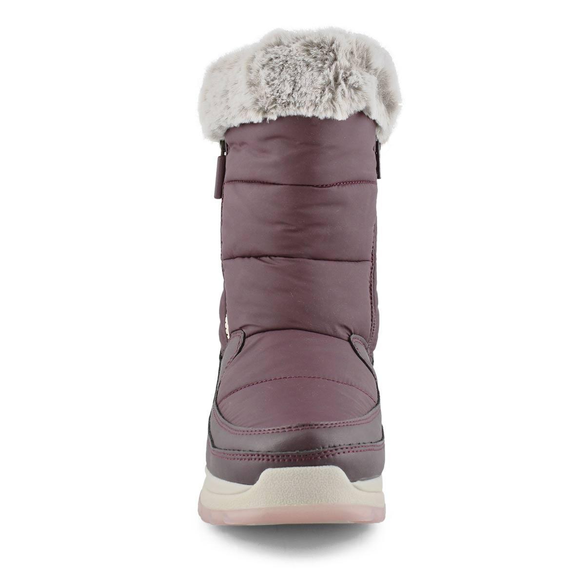 Women's SEISMIC burgundy waterproof winter boots