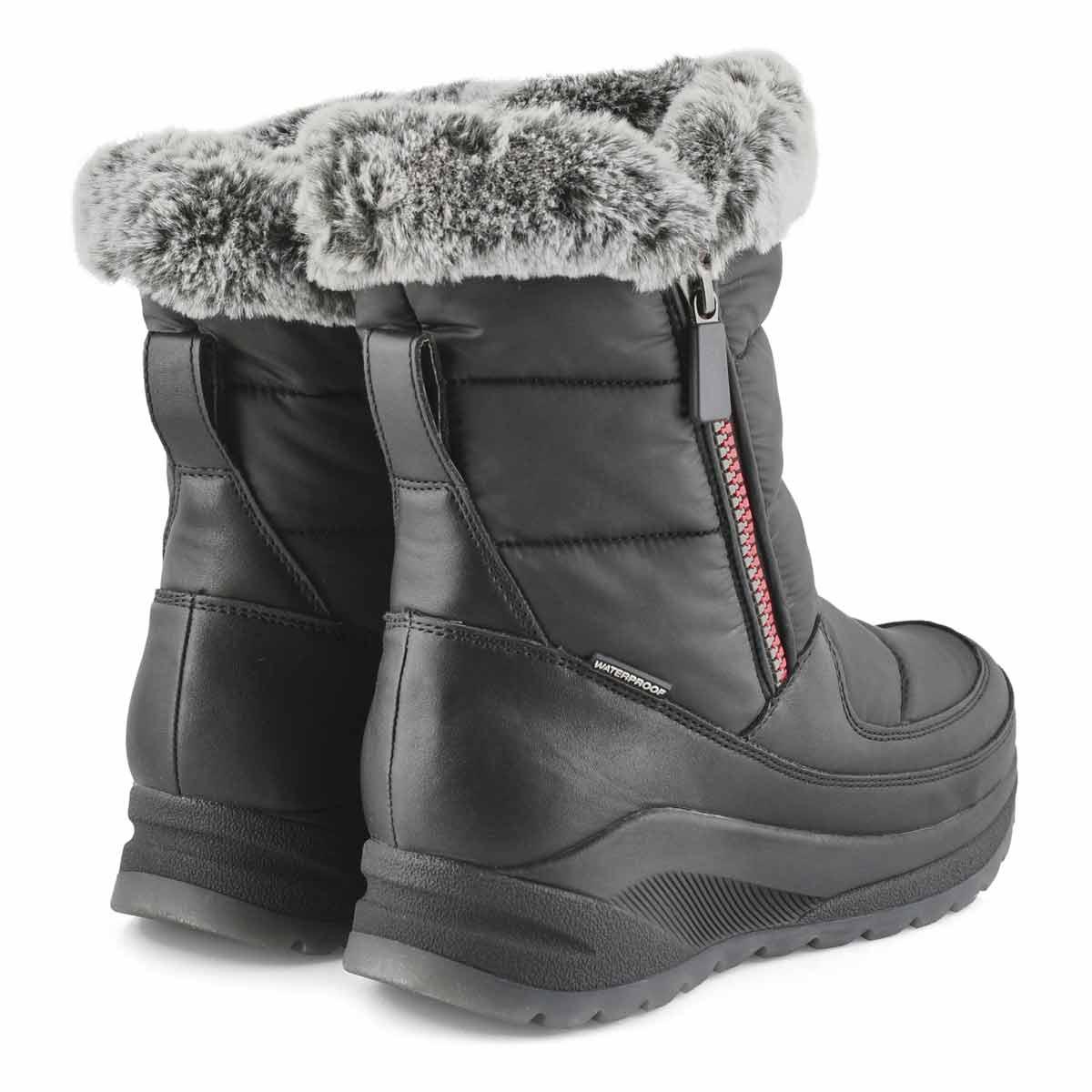 Women's SEISMIC black waterproof winter boots