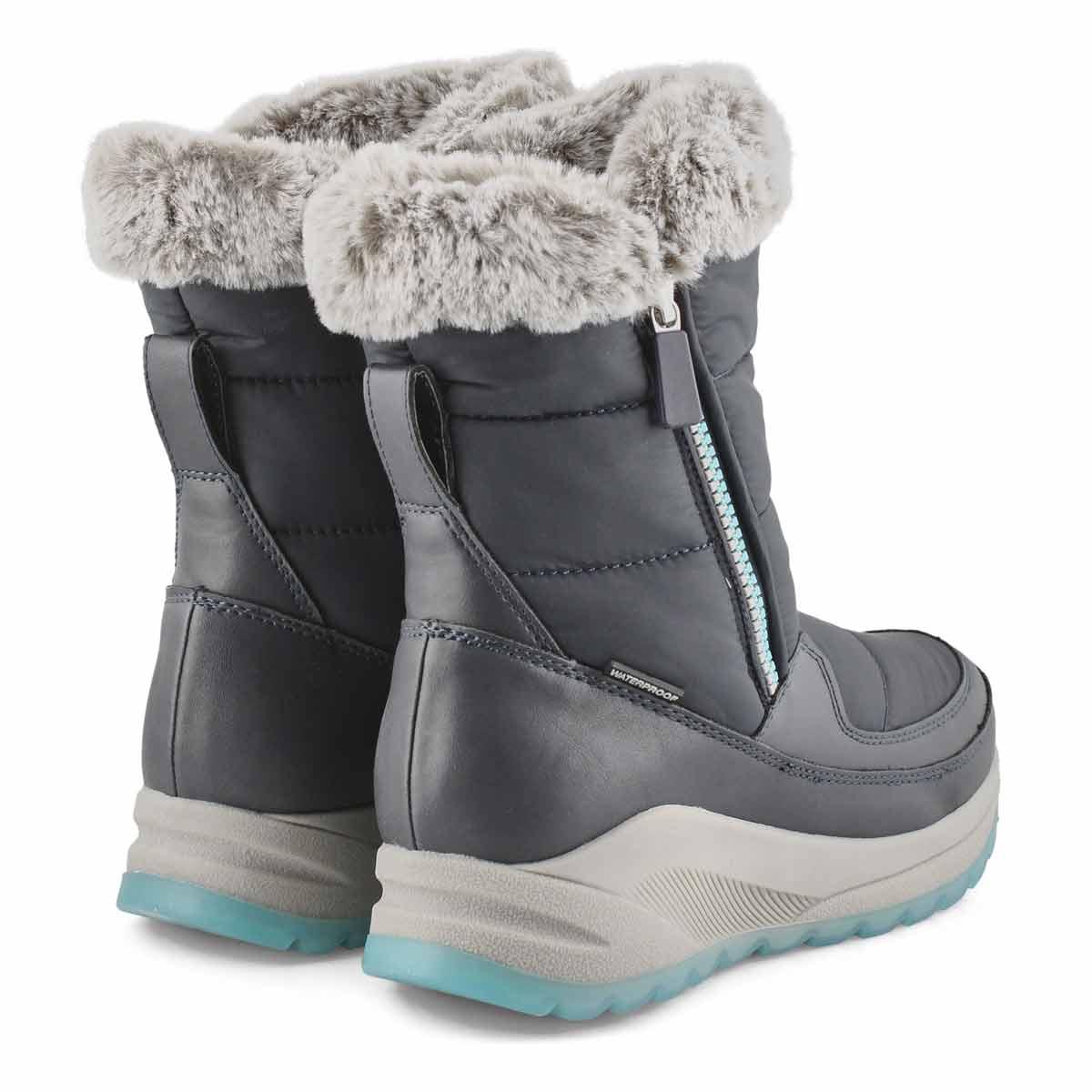 Women's SEISMIC navy waterproof winter boots