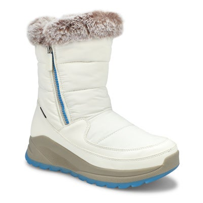 Women's SEISMIC white waterproof winter boots