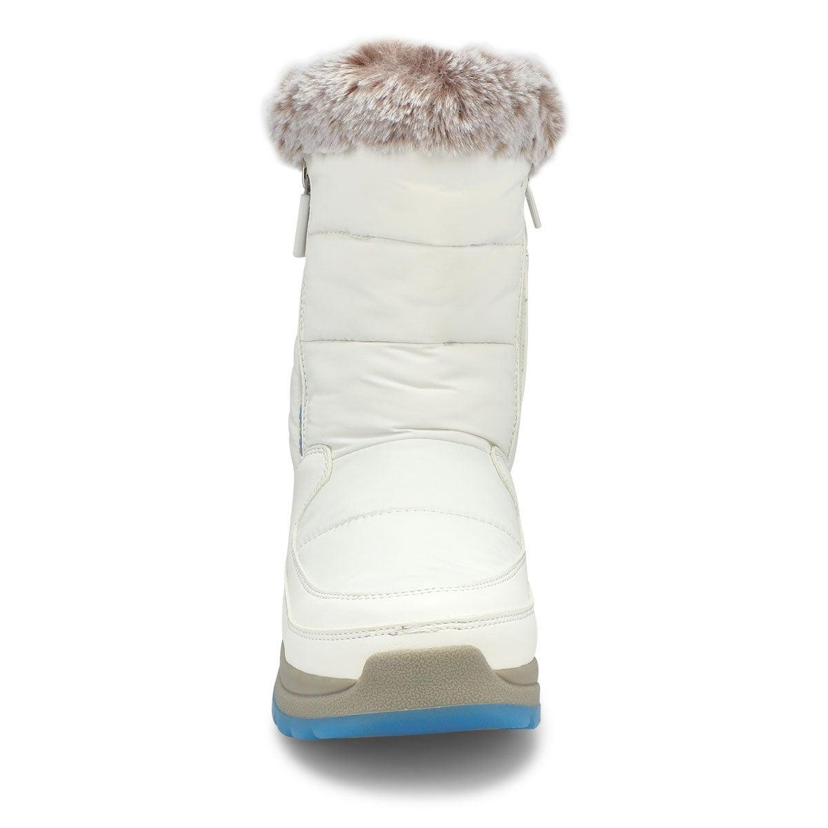 Women's SEISMIC white waterproof winter boots