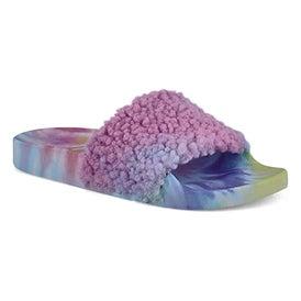 Lds Shear bright multi slipper