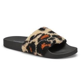 Lds Shear leopard slipper