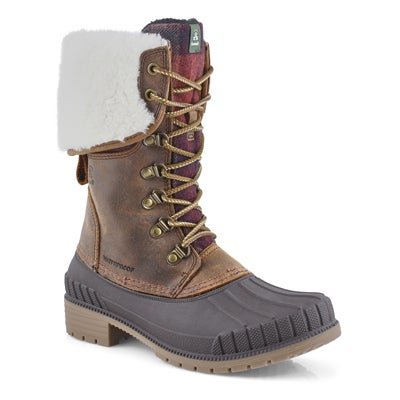Women's SEINNAF2 dark brown waterproof boots