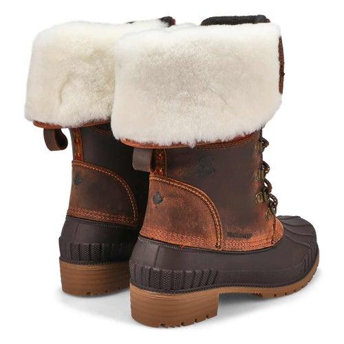 Lds SiennaF2 dark brown wtpf snow boot