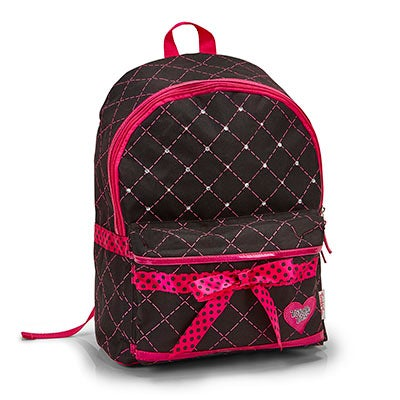 Skechers Girls DIAMOND QUILT black tiwnkle lightup backpack