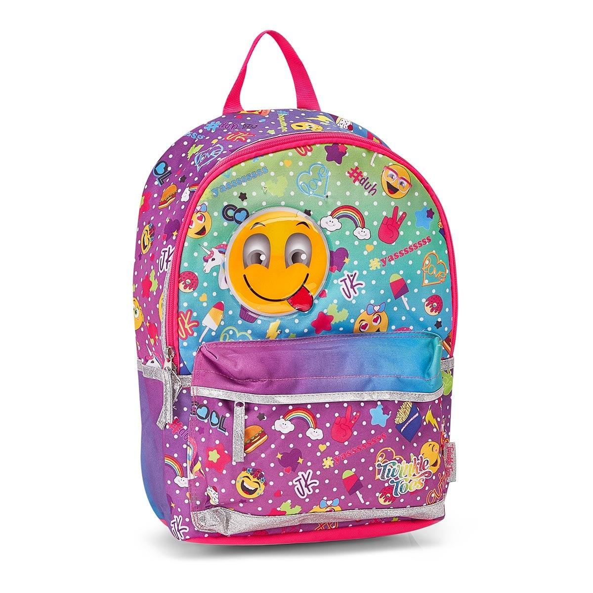 Grls Twinkle Toes Skemoji multi backpack