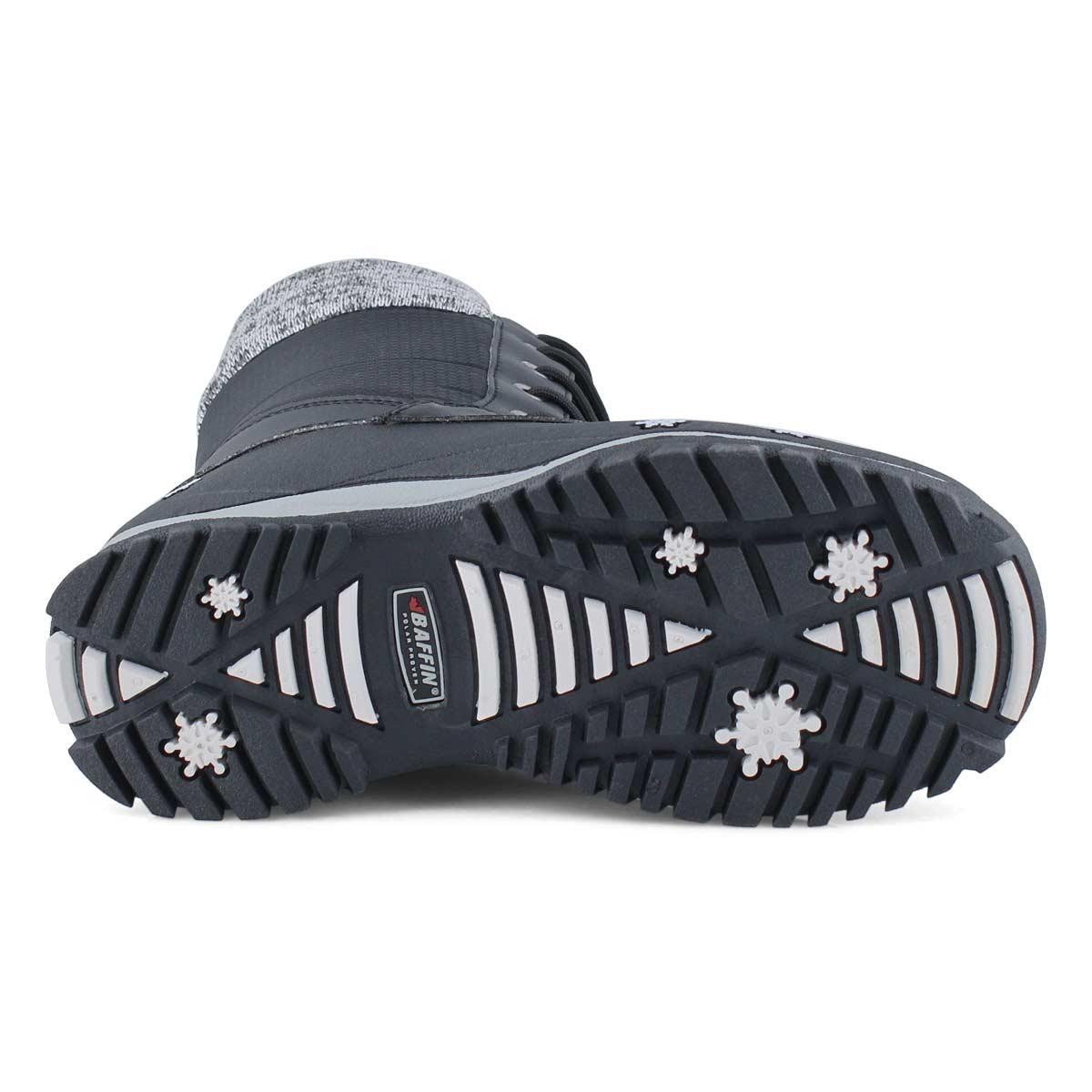 Girls' AVERY black waterproof winter boots