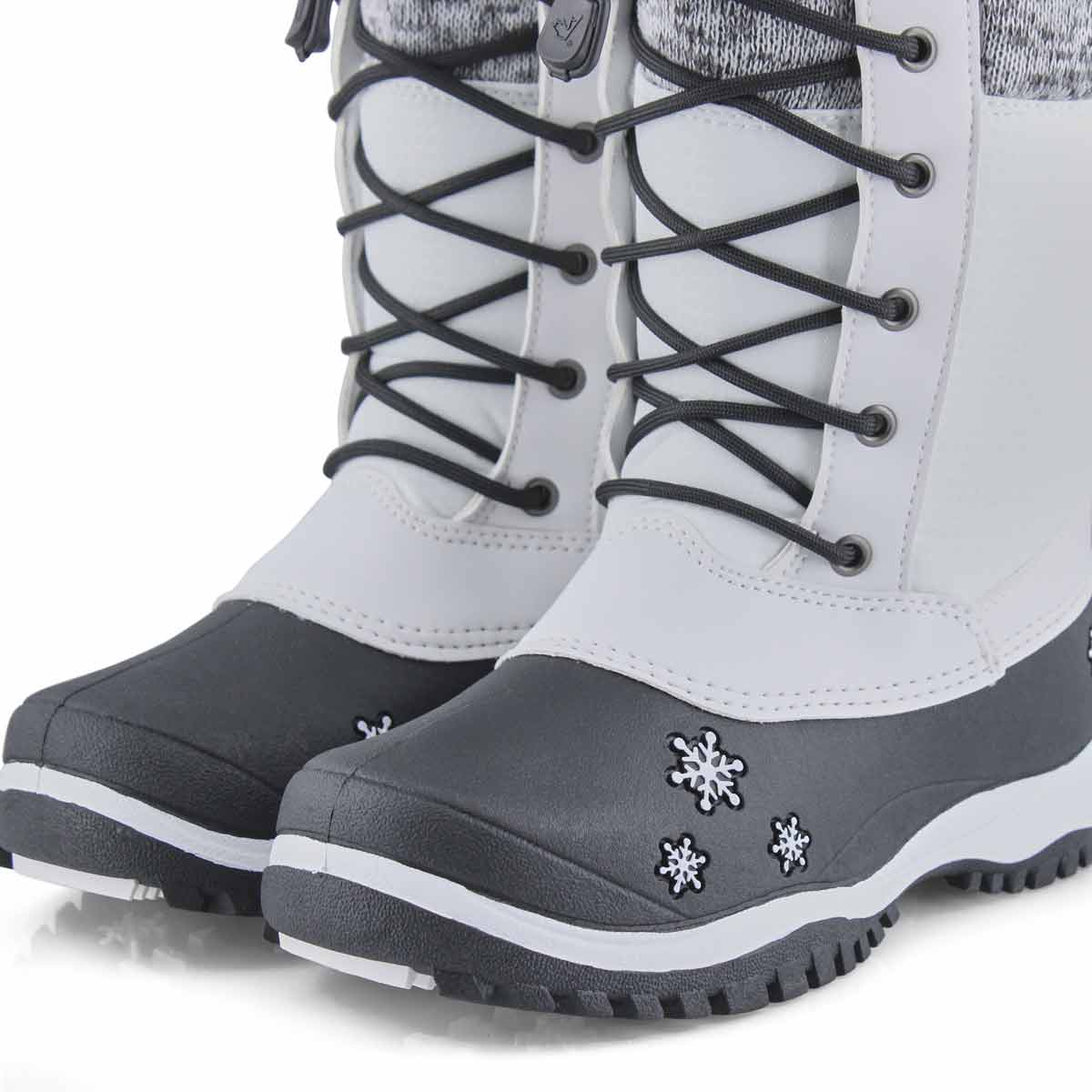 Girls' AVERY white waterproof winter boots