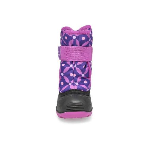 Bottes hiver imper.Snowbug4 violet,bébés
