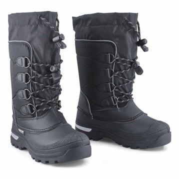 Boys' PINETREE black waterproof winter boots