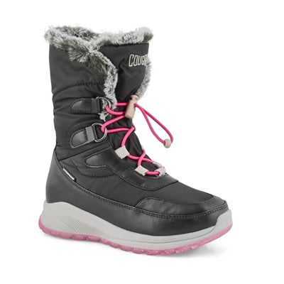 Girls' STACI black winter boots