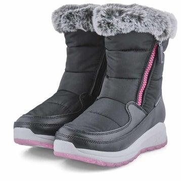 Girls' STARLA black waterproof winter boots