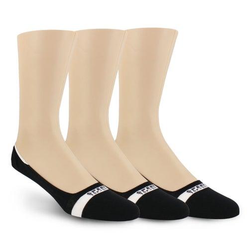 Mi-socquettes Solid, noir, hommes - 3p