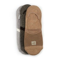 Men's SOLID MARL black/brown/white liners - 3 pk