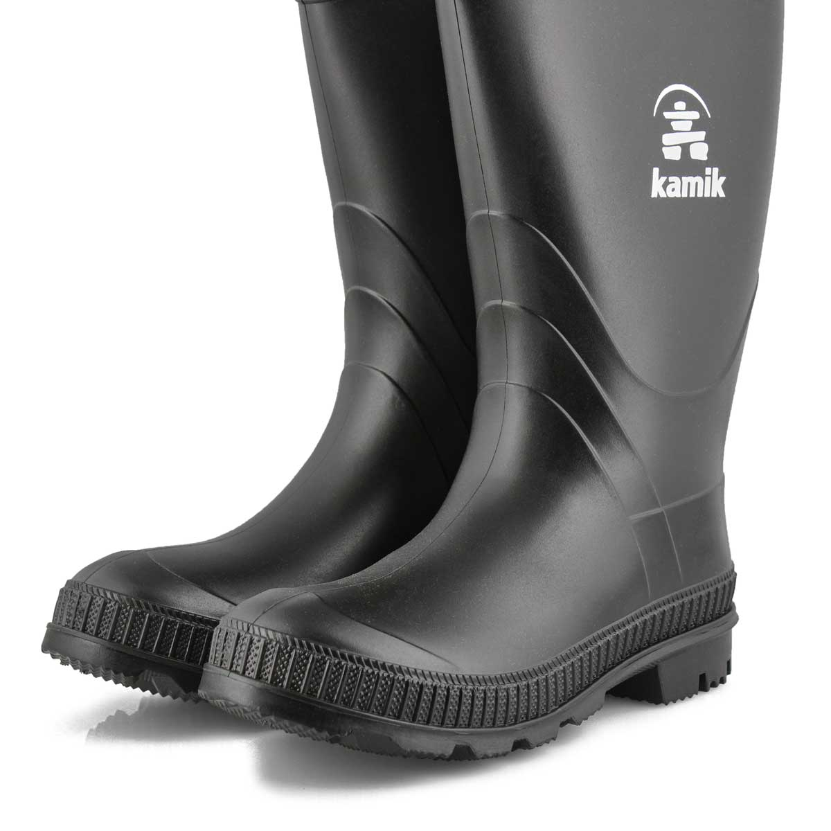 Boys' Stomp Waterproof Rain Boot - Black