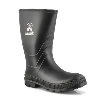 Boys' Stomp Waterproof Rain Boot - Black