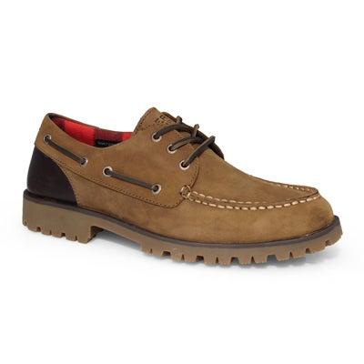 Chaussures bateau A/O LUG 3 EYE brunes, hommes