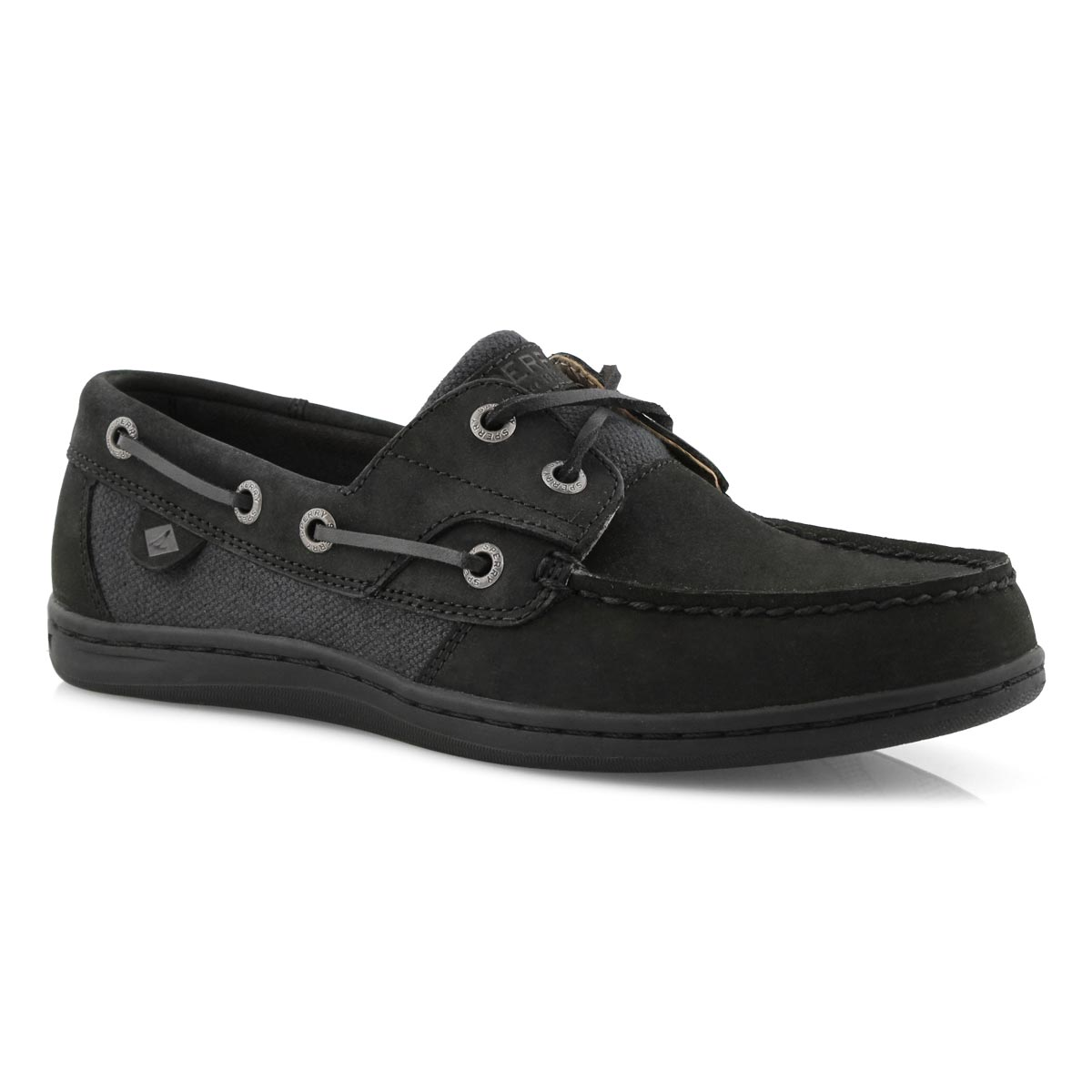 Sperry Women's KOIFISH black boat shoes