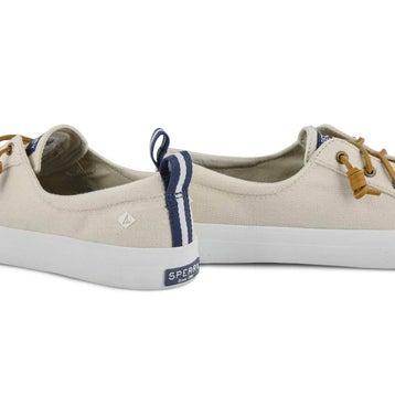 Women's Crest Vibe Linen Fashion Sneaker - Oat