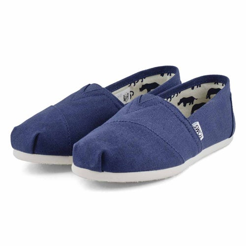 Lds Classic navy canvas loafer