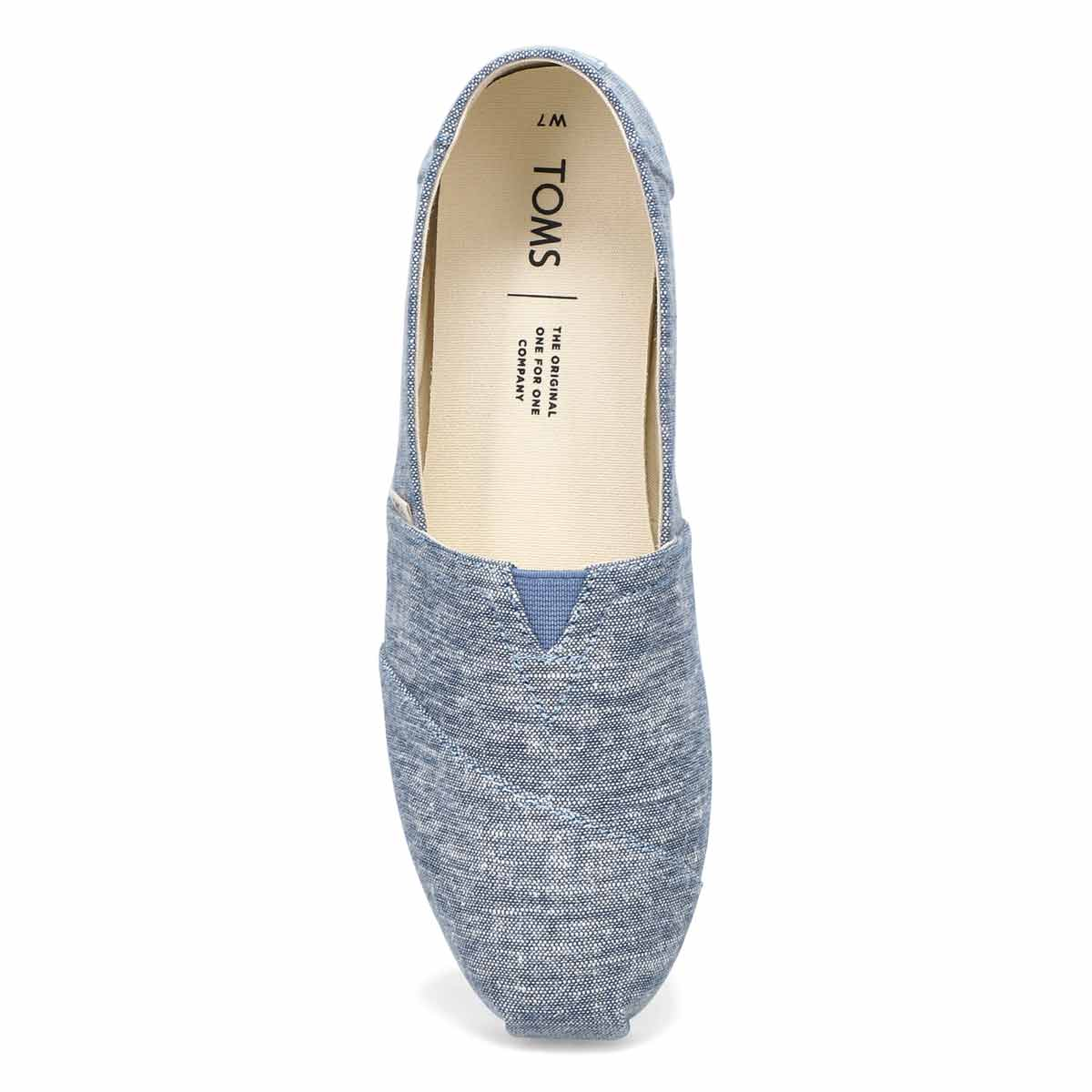 Flâneur Classic Alpargata, bleu chambray femme