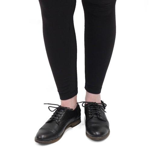 Lds Talia 2 black lace up oxford