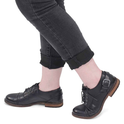 Lds Talisa black casual oxford shoe