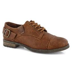 Lds Talisa 2  cognac casual oxford shoe