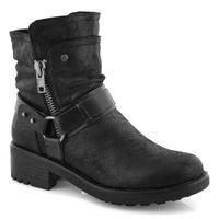 Women's Tambi Slip On Combat Boot- Black