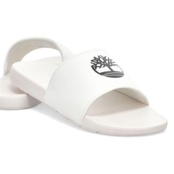 Men's Playa Sands Slide Sandal - White/Black