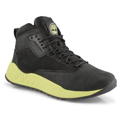 Men's SOLAR WAVE MID black/lime ankle boots