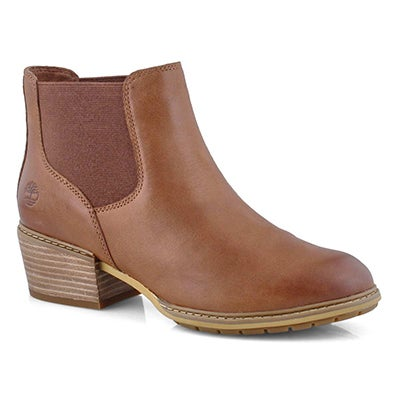 Lds SutherlinBay md brn low chelsea boot