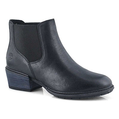 Women's SUTHERLIN BAY black low chelsea boots