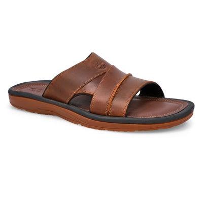 Mns Earthkeepers brn oiled slide sandal